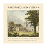 The Broad Sanctuary, 1813 Print by Humphry Repton