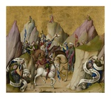 The Meeting of the Three Kings, with David and Isaiah (recto); The Assumption of the Virgin (verso) Poster by  Master of the St. Bartholomew Altarpiece