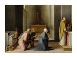 The Miraculous Communion of Saint Catherine of Siena Kunst af Domenico Beccafumi