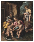The Holy Family Plakat af Giulio Romano