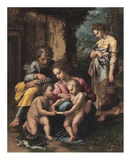 The Holy Family Kunst af Romano, Giulio