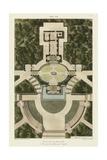 Plan De La Villa Pia Print by  Bonnard