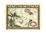 Tropical Karte von Ost Indies Giclée-Premiumdruck von  Vision Studio