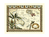 Tropical Map of East Indies Premium Giclee Print by  Vision Studio