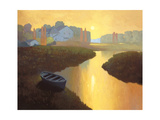 Boat at Sunrise Giclee Print by Max Hayslette