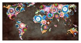 World in circles Prints by  Joannoo