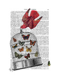 Flying Birdcage Posters by  Fab Funky