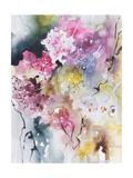 Blooms Aquas III Affiches par Leticia Herrera