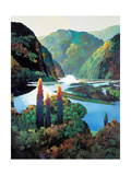 The River Giclee Print by Max Hayslette