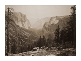 The Yosemite Valley from Inspiration Pt. Mariposa Trail, 1865-1866 Posters by Carleton Watkins