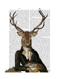 Deer in Chair Prints by  Fab Funky