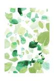 Butterfly Dance in Green B Prints by Allyson Fukushima