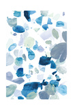 Butterfly Dance in Blue B Prints by Allyson Fukushima