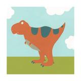 Playtime Dino I Stampa giclée premium di June Vess