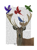 Deer and Birds Nests Prints by  Fab Funky
