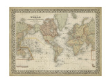Mitchell's World Map Prints by  Mitchell