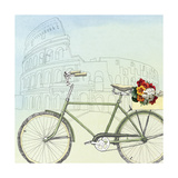 Biking Through Rome Print by Naomi McCavitt