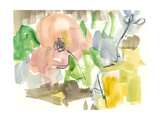 Whimsy in the Garden II Premium Giclee Print by Jennifer Goldberger