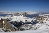 Plattkofel, Grohmannspitze, Grohmann Peak, Fuenffingerspitze, Five Finger Peak, Langkofel, Sella Photographic Print by Ulla Lohmann