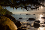 Praia Picinguaba in Ubatuba, Sao Paulo State, Brazil, at Sunset Photographic Print by Alex Saberi