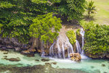 An Aerial View of Waterfalls in Ocho Rios, on the North Coast of Jamaica Photographic Print by Mike Theiss