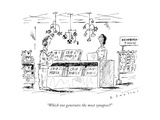 """Which one generates the most synapses"" - New Yorker Cartoon Giclee Print by Barbara Smaller"