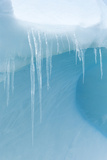 A Close Up of Icicles on an Iceberg Near Cuverville Island, Antarctica Photographic Print by Ralph Lee Hopkins