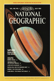 Cover of the July, 1981 National Geographic Magazine Fotografisk tryk af  NASA