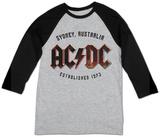 Raglan: AC/DC- Sydney, Australia Est. 1973 Raglans