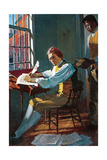 Thomas Jefferson in His Study Giclee Print by Stanley Meltzoff