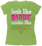 Juniors:Kottonmouth Kings- Barbie Smoke Like Marley Shirts