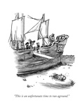 """This is an unfortunate time to run aground."" - New Yorker Cartoon Premium Giclee Print by Frank Cotham"
