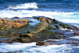 Surf and Exposed Rock at High Tide Near Neil's Harbor Photographic Print by Darlyne A. Murawski
