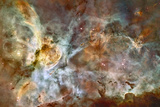 Star Birth and Star Death Create Cosmic Havoc in a Panorama of the Carina Nebula Photographic Print by  NASA