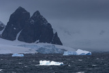 Icebergs and Mountains Near Cuverville Island, Antarctica Photographic Print by Ralph Lee Hopkins