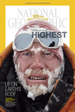 Cover of the January, 2013 National Geographic Magazine Fotografisk tryk af Cory Richards