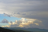 Evening Storm Clouds Swirl over the Spanish Peaks Near Bozeman, Montana Photographic Print by Gordon Wiltsie