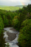 A Scenic View of a River Through a Forest, and a Rainbow from the Cabot Trail Photographic Print by Darlyne A. Murawski