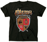 Saxon- Road Warriors Shield T-Shirt