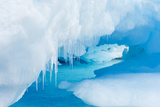 A Close Up of Icicles on an Iceberg in Gerlach Strait, Antarctica Photographic Print by Ralph Lee Hopkins
