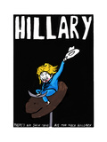 Hillary Clinton - Cartoon Premium Giclee Print by Edward Steed