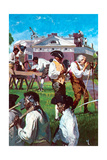 Thomas Jefferson with His Servants and Slaves in Constructing Monticello Giclee Print by Stanley Meltzoff