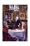 Thomas Jefferson Making a Toast 'To the Republic!' Giclee Print by Stanley Meltzoff
