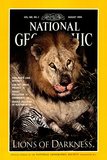 Cover of the August, 1994 National Geographic Magazine Photographic Print by Beverly Joubert