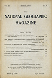 Cover of the March, 1900 National Geographic Magazine Photographic Print