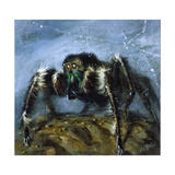 Wolf Spider: a Gigantic Hairy Spider with Beady Eyes Emerges from its Lair to Wreak Havoc Giclee Print by Stanley Meltzoff