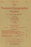 Cover of the January, 1896 National Geographic Magazine Fotografisk tryk