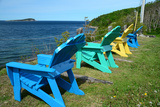 Four Adirondack Chairs Facing the Atlantic Ocean on Middle Head Photographic Print by Darlyne A. Murawski
