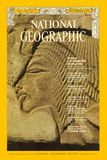 Profile of Nefertiti Adorns a Block of Akhenaten's Temple Photographic Print by Emory Kristof