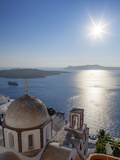 Sunshine on a Summer Day in the Mediterranean Islands of Santorini Photographic Print by Babak Tafreshi